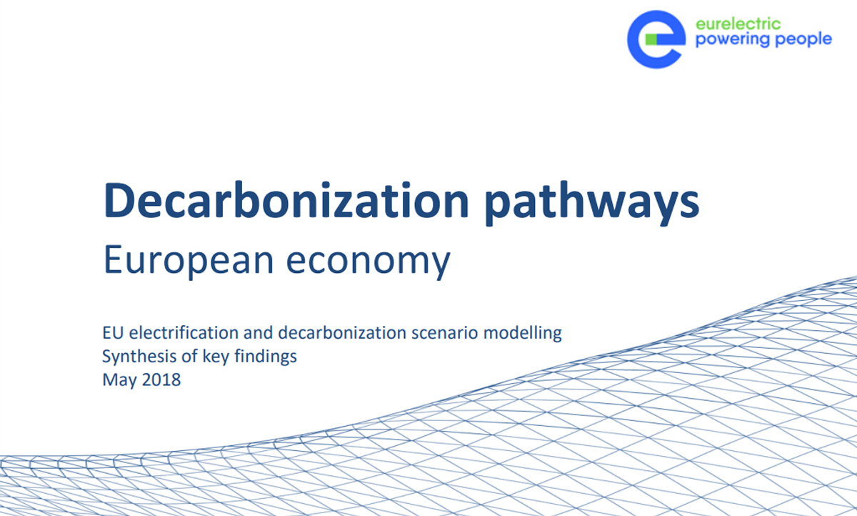 Decarbonisation Pathways shows that deep EU decarbonisation requires 60% electrification