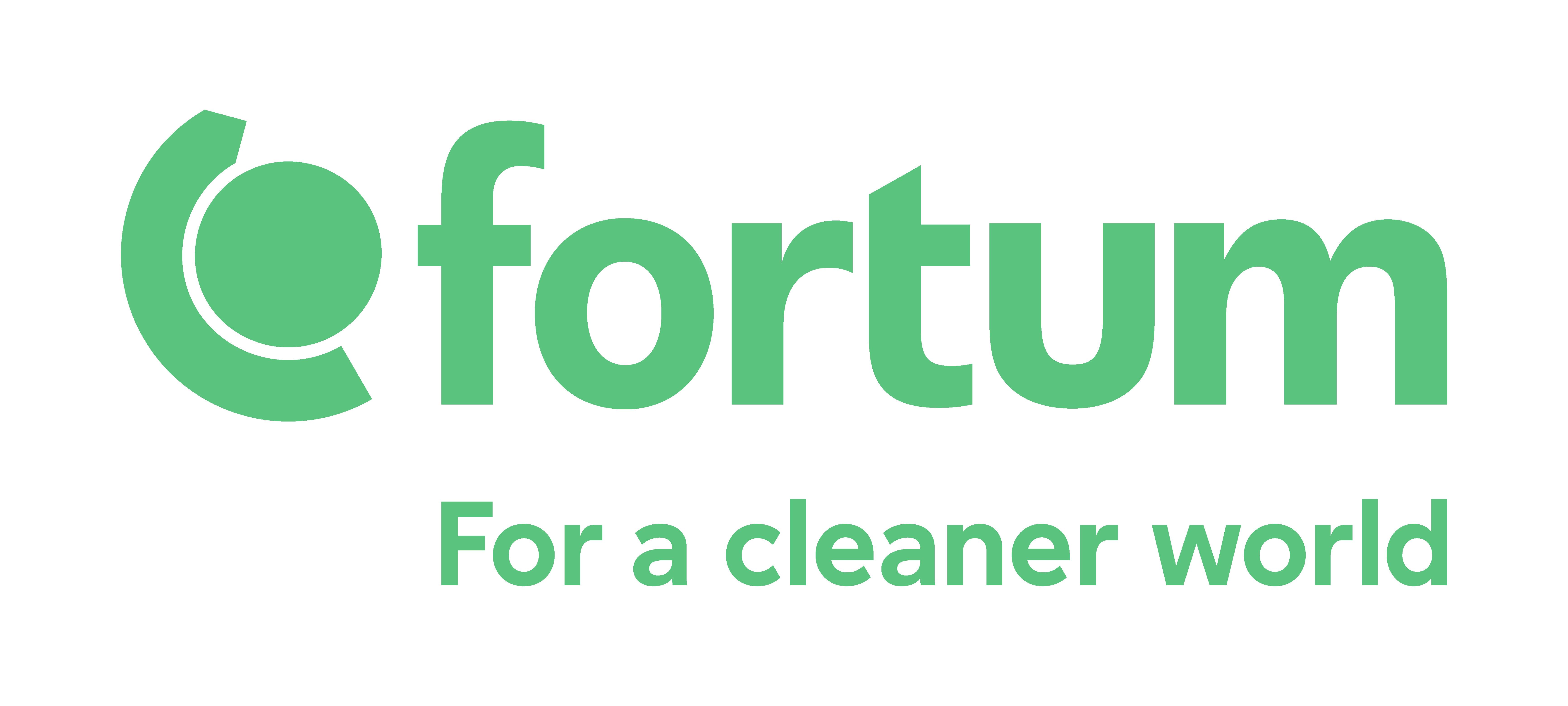 Fortum Logo&Tagline RGB Green